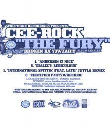 """Cee-Rock 'The Fury' – Bringin Da Yowzah!!! Sampler (12"""") Wolftown/!Handzup! (2004)"""